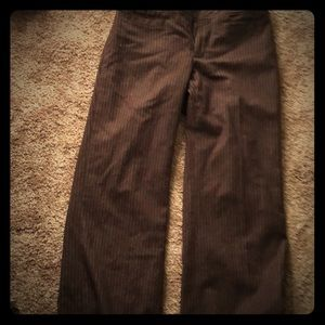 Brown  pin strip wool trousers.  Lined